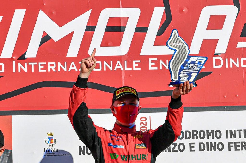 Formula Regional   Imola, Gara 2: problemi per Leclerc, Pasma si fa strada verso la vittoria
