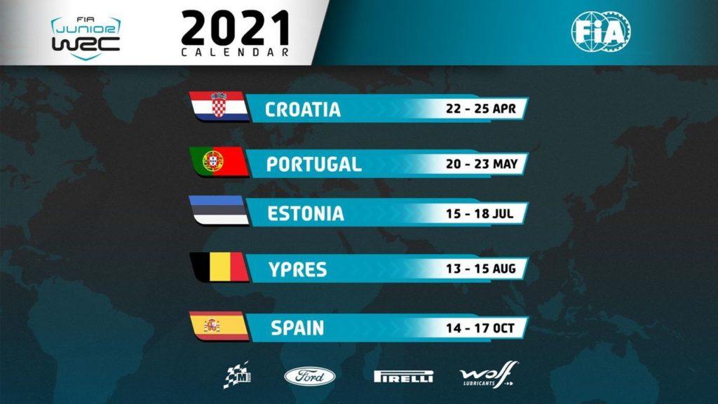 Junior WRC, presentato il calendario 2021: si parte dalla Croazia