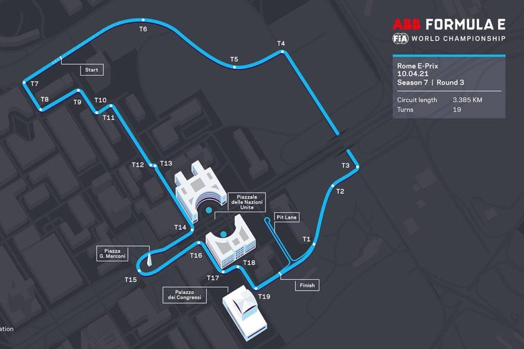 Formula E   L'ePrix di Roma si rinnova per il 2021: cambia configurazione, più lunga e veloce