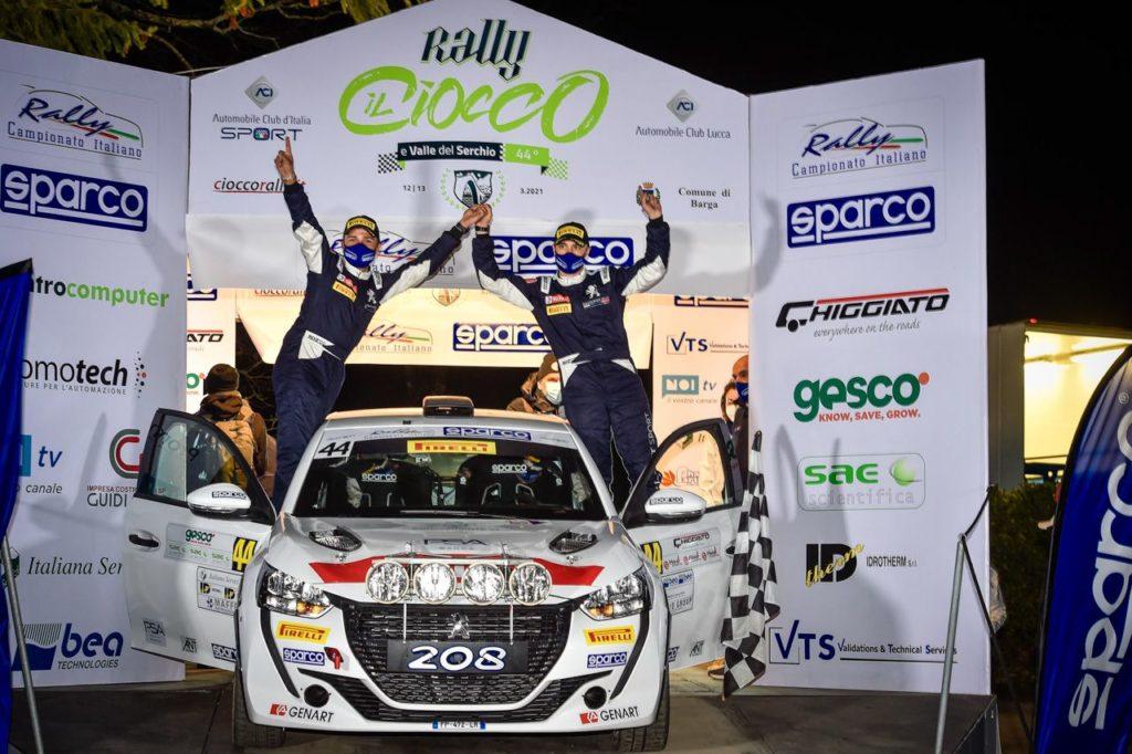 CIR   Rally Il Ciocco, Peugeot domina nelle Due Ruote Motrici con i Nucita
