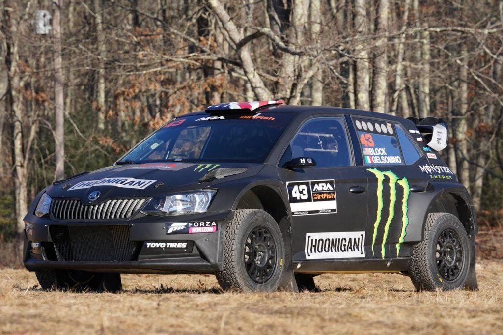 ARA   Ken Block torna nel campionato americano rally e debutta per la prima volta con la Skoda Fabia R5