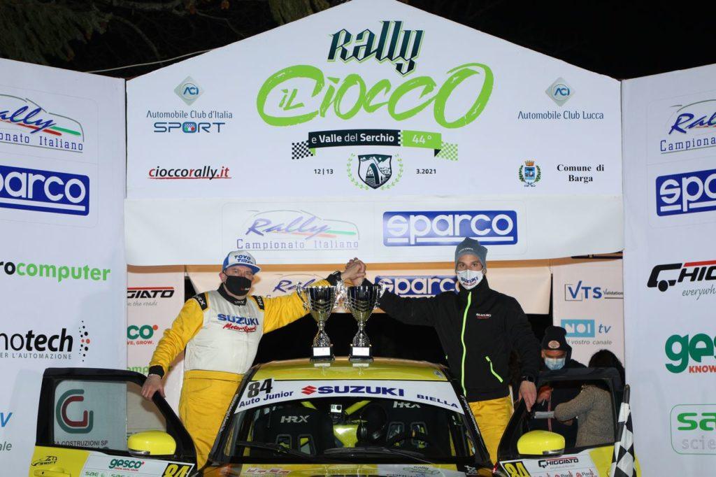 Suzuki Rally Cup | Simone Goldoni conquista con l'Hybrid il primo round del Ciocco