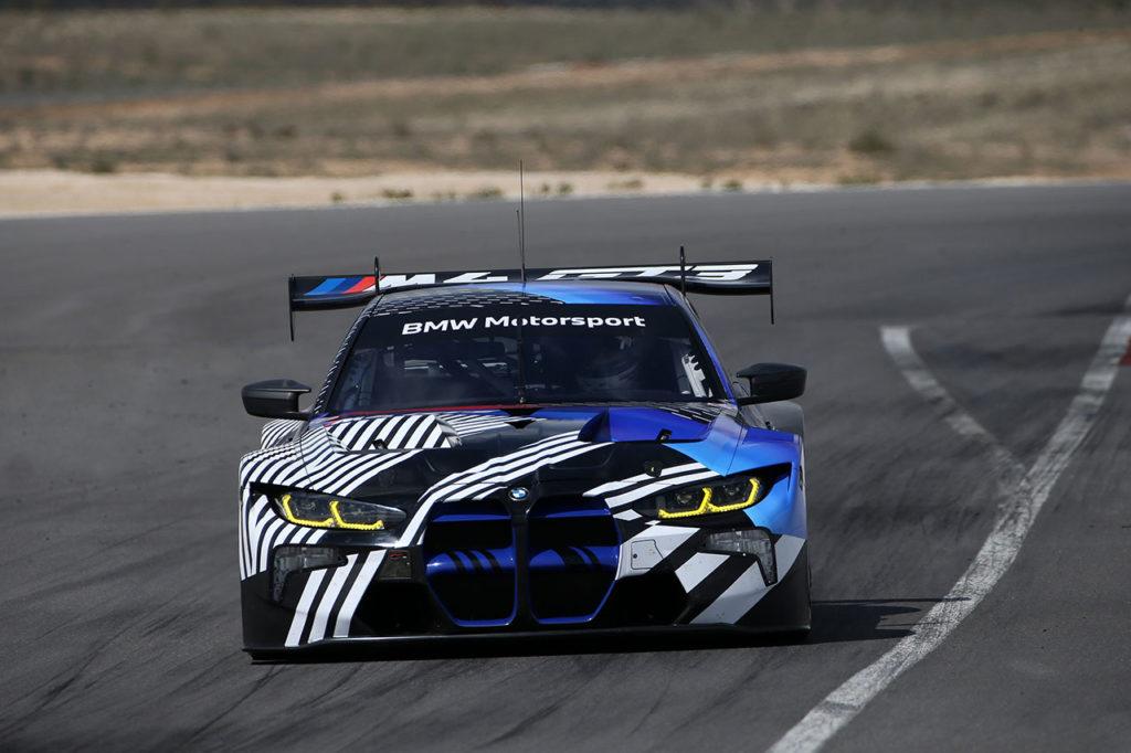 BMW M4 GT3, completati oltre 12.000 km di test in pista in vista del 2022
