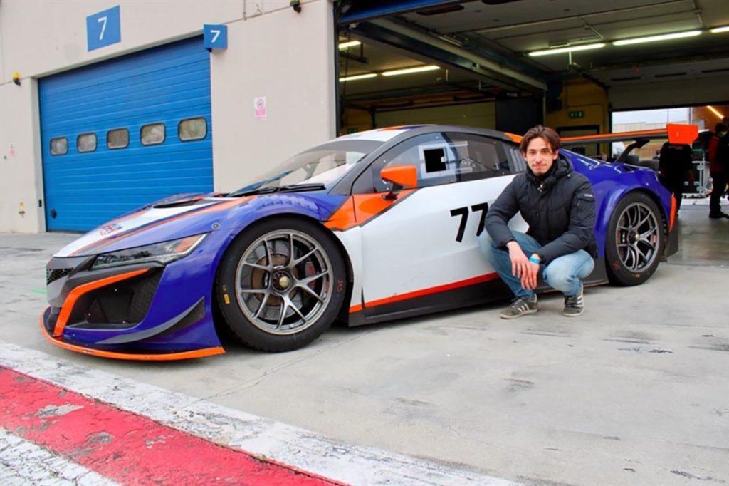 CIGT | De Luca a bordo della Honda NSX GT3 di Nova Race per la stagione 2021
