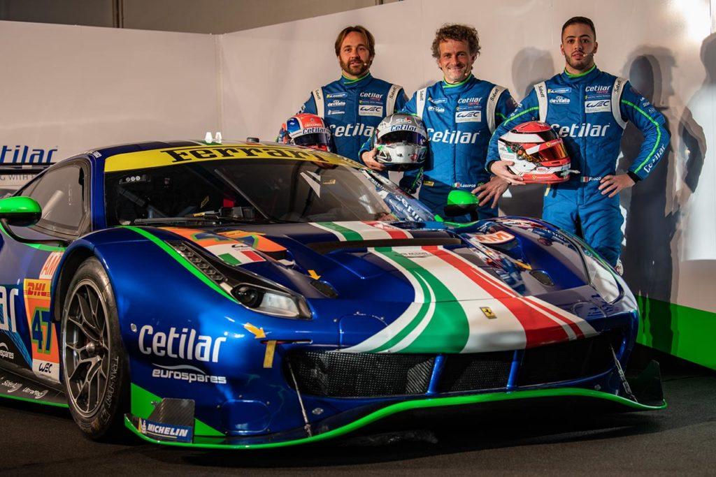 WEC | Cetilar Racing svela la nuova Ferrari, Fuoco al fianco di Lacorte e Sernagiotto