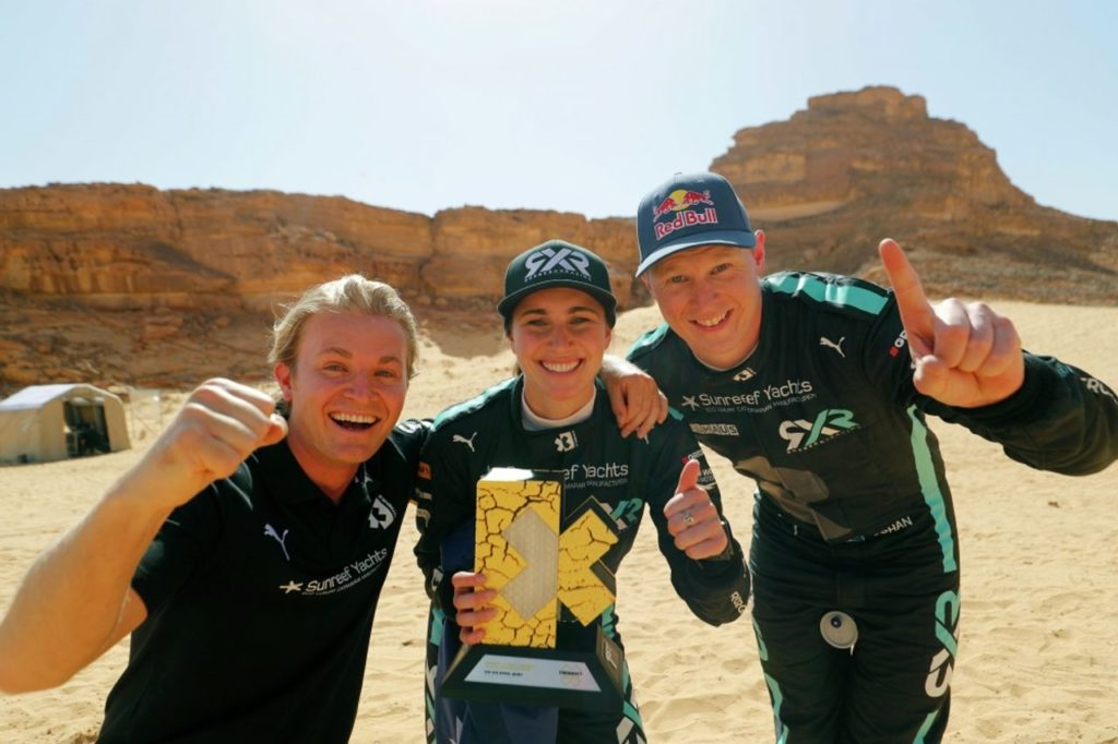 Extreme E | Taylor e Kristoffersson del team di Rosberg vincono il Desert X Prix