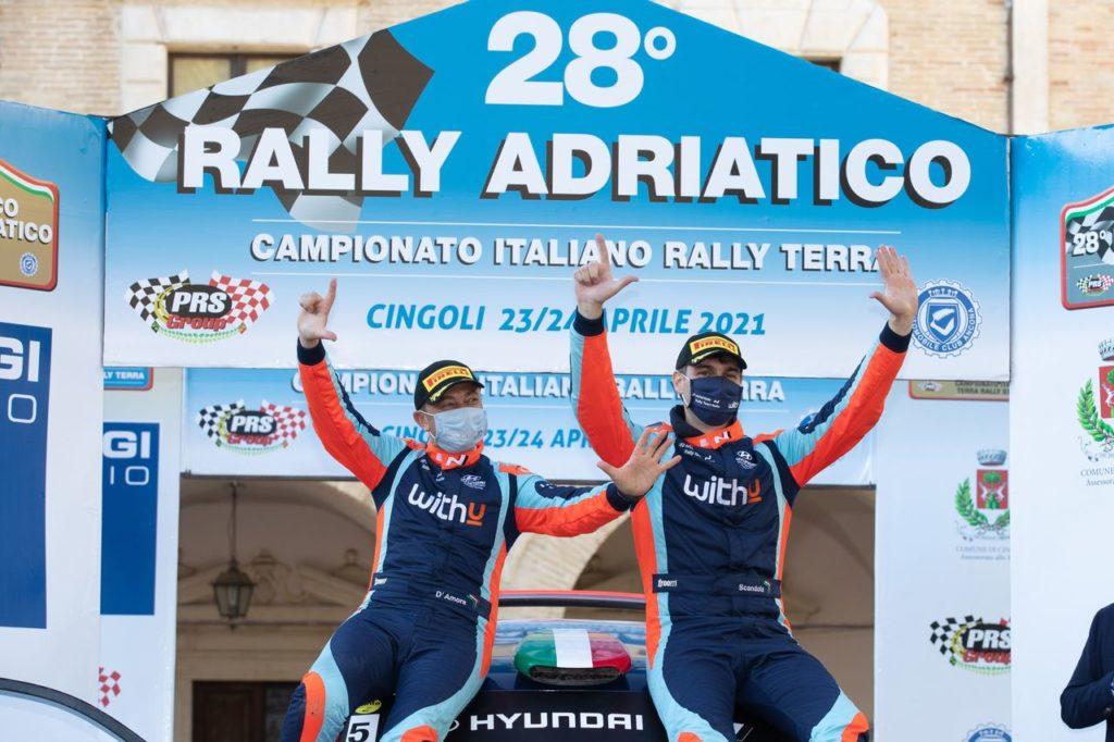 CIRT | Per la settima volta in carriera Umberto Scandola vince il Rally Adriatico