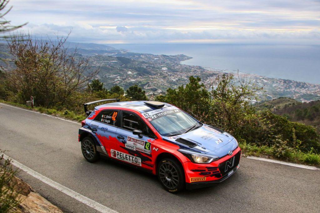 CIR | Rallye Sanremo 2021, PS1: miglior tempo per Breen, Crugnola a ruota