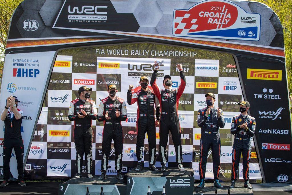 WRC | Il mutevole Rally Croazia di Toyota: doppietta sul podio con Ogier ed Evans, testa della classifica ma quanti imprevisti