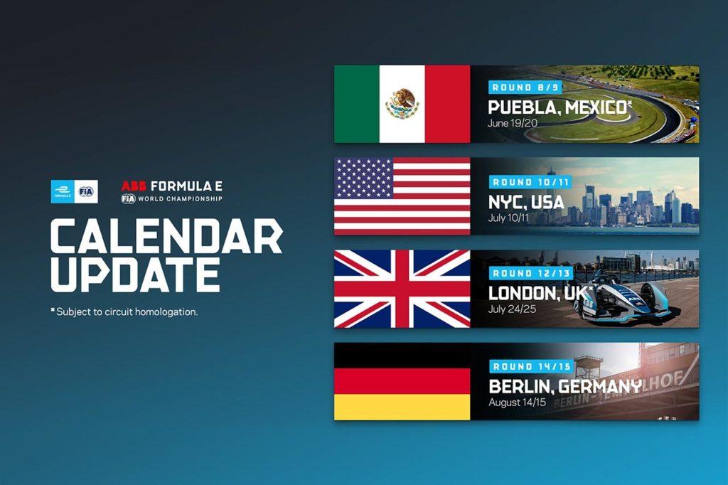 Formula E | Si espande il calendario: confermate Puebla, New York, Londra e Berlino
