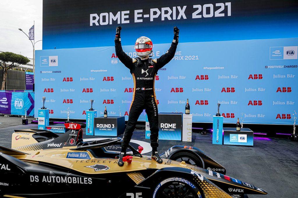 Formula E   Roma, Gara 1: gli errori altrui premiano Vergne e DS Techeetah, Jaguar sul podio