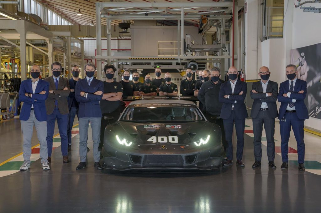 Lamborghini festeggia la Huracan: 400 esemplari prodotti tra Super Trofeo e GT3