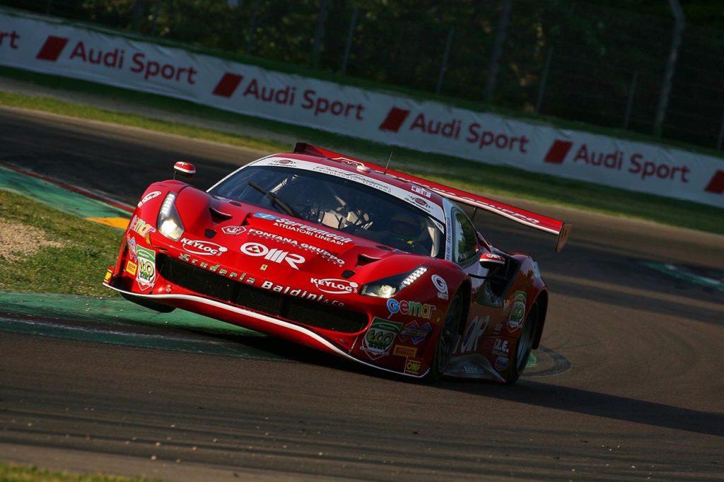 CIGT   Fisichella-Gai-Zampieri al via della serie Endurance con la Ferrari della Scuderia Baldini