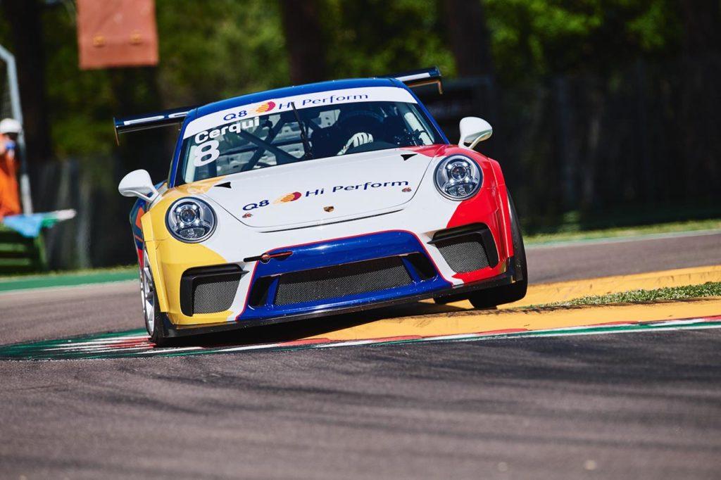Porsche Carrera Cup Italia   Cerqui precede tutti nei test collettivi di Imola