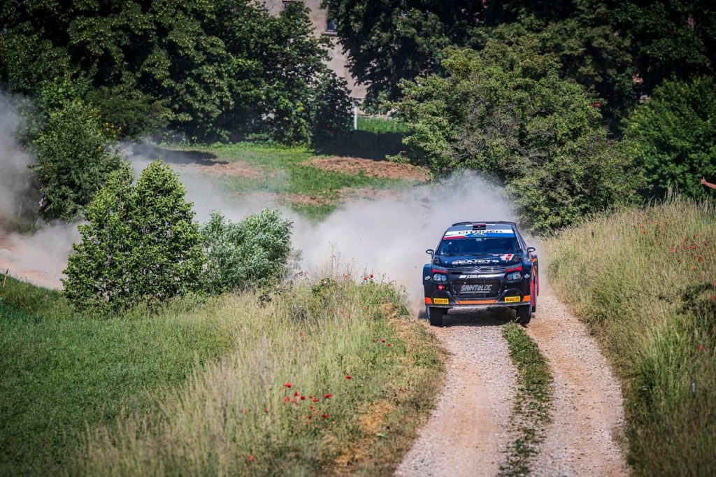 ERC   Rally Polonia 2021, Lukyanuk in testa. Fuori Breen e Campedelli