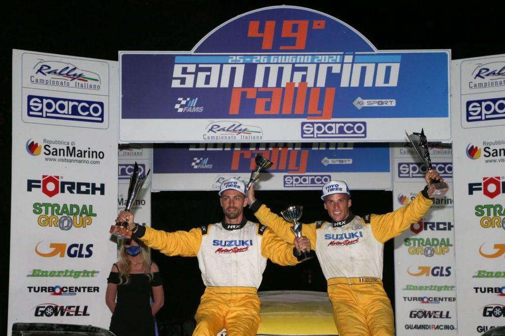 Suzuki Rally Cup | Goldoni cala il poker di successi e conquista anche il San Marino