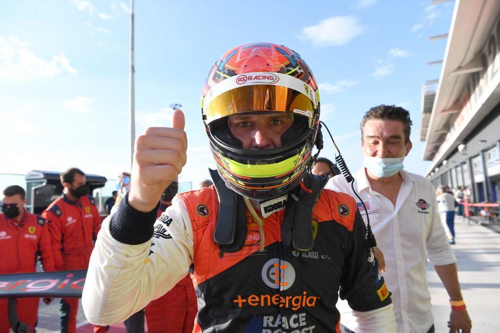 """CIGT   Vittoria """"in solitaria"""" per Di Amato in Gara 1 a Misano con Ferrari"""