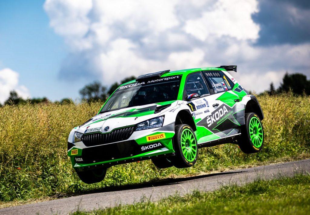 Skoda e i 120 anni nel motorsport, Kopecky onora l'anniversario vincendo al Rally Boemia