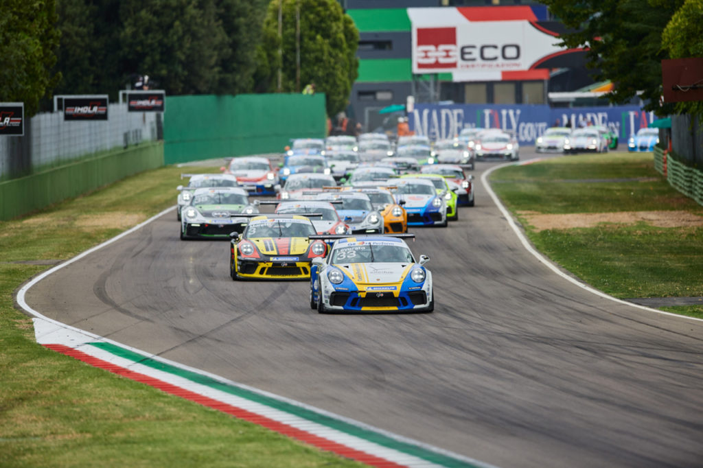 Porsche Carrera Cup Italia | Amati e Caglioni vincono a Imola, Giardelli primo in campionato