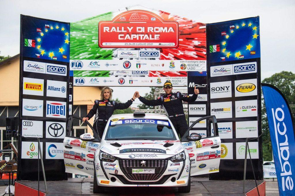 Peugeot Competition   208 Rally Cup Top, Lucchesi vince al Roma Capitale e si avvicina al leader Farina