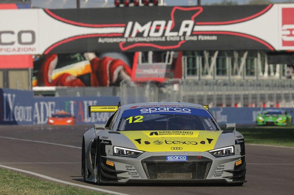 CIGT   Ferrari-Agostini si aggiudicano Gara 1 con Audi a Imola e volano al comando