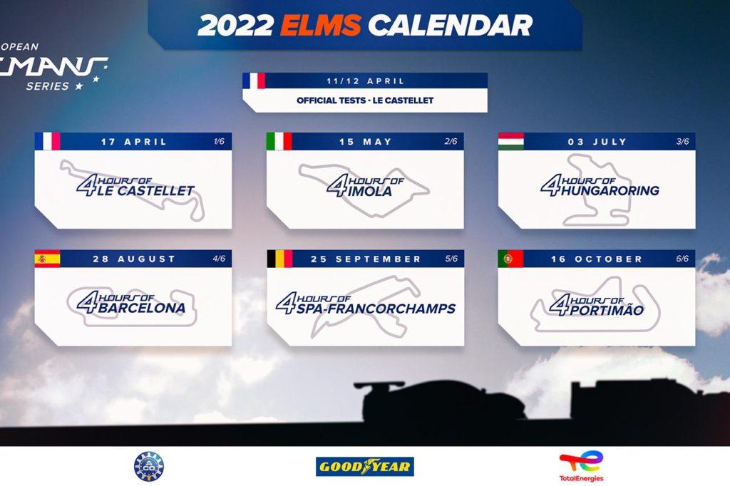 ELMS   Nuovo calendario per il 2022: fuori Monza e Spielberg, dentro Imola e Budapest