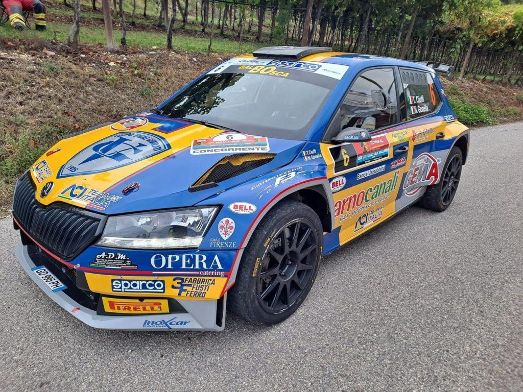 CIR | Ciuffi e Gonella tornano sulla Skoda e ritrovano il podio al Rally Due Valli